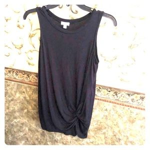 NWOT! Black tank with knot